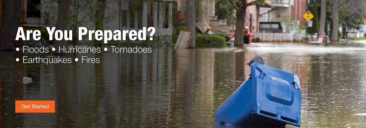 Use The Home Depot Pro's severe weather preparedness guide for floods, hurricane, tornadoes, earthquakes and fires.